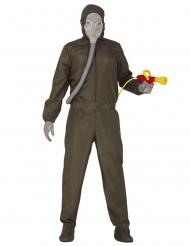 Kammerjäger-Kostüm für Erwachsene grün-grau