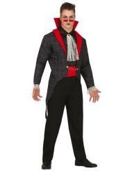 Gothic Vampir-Kostüm für Erwachsene schwarz-rot-weiss