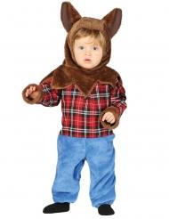 Werwolf-Babykostüm für Halloween Kleinkind-Kostüm blau-braun-rot
