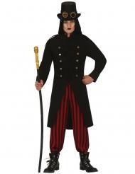 Vampirisches Steampunk-Kostüm für Erwachsene rot-schwarz