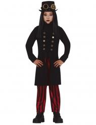 Fräulein Steampunk Mädchenkostüm Halloweenkostüm schwarz-rot