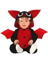 Süßes Fledermaus-Babykostüm für Halloween schwarz-rot