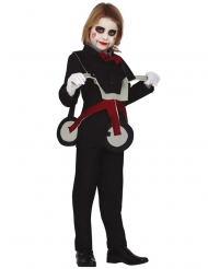 Horrorpuppen-Kostüm mit Dreirad Kinder-Kostüm für Halloween schwarz-grau