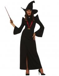 Lehrerin Hexen-Kostüm schwarz-rot
