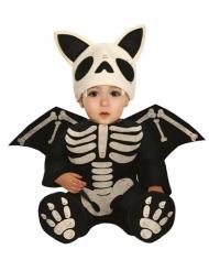 Fledermaus-Skelett-Kostüm für Kleinkinder Babykostüm für Halloween schwarz-weiss