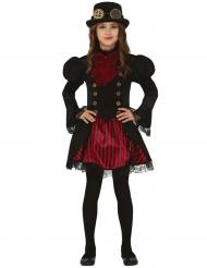 Steampunk Mädchenkostüm Kinderkostüm Schwarz Rot