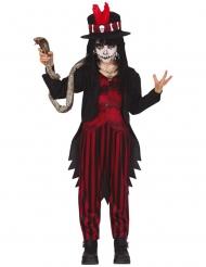 Voodoo-Jungenkostüm düstere Halloween-Verkleidung schwarz-rot
