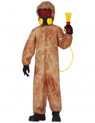 Zombie-Schutzanzug für Jungen Halloweenkostüm braun-gelb