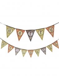 Partydeko-Girlande mit Wimpeln Happy Halloween bunt 120 cm