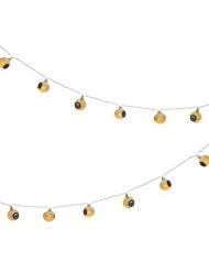 Schaurige Lichterkette mit Augäpfeln Partydekoration für Halloween gelb-blau 160 cm