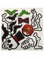 Magnete mit Skelette Partydekoration Halloween schwarz-weiss-grün 25 x 25 cm