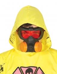 Gasmaske Accessoire für Erwachsene schwarz-rot-orangefarben
