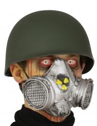 Radioaktive Gasmaske Halloween-Zubehör Grau-gelb
