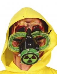 Radioaktive-Maske Zombie-Maske für Halloween grün-schwarz-beigefarben