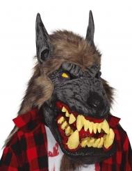 Riesige Wolf-Maske für Halloween für Erwachsene aus Latex