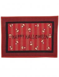 Fussabtreter für Halloween Happy Halloween-Partydeko rot-schwarz