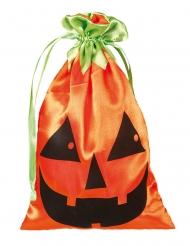Kürbis-Beutel Rucksack für Halloween Zubehör orange-schwarz-grün