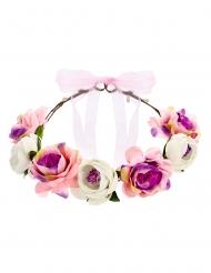 Romantischer Blumenkranz weiss-rosa
