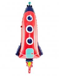 Galaktischer Raketen-Folienballon Raumdekoration bunt 44 x 115 cm