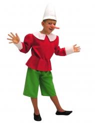 Pinocchio™-Kinderkostüm für Fasching Märchenfigur rot-grün-weiss