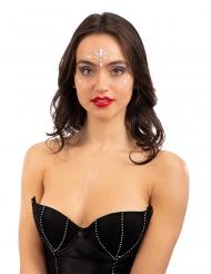 Glitzersteine-nachtleuchtend glamouröses Party-Make-up weiss
