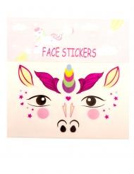 Bezaubernde Einhorn-Gesichtstattoos für Mädchen selbstklebend bunt