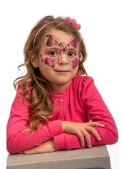 Selbstklebende Schmetterlings-Tattoos für Mädchen rosa-schwarz