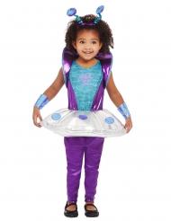 Niedliches Alien-Babykostüm für Kleinkinder Außerirdische blau-violett-weiß