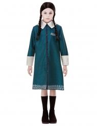 Addams Family™-Wednesday-Kostüm für Mädchen Halloween blau-weiss-schwarz