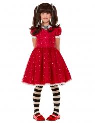 Ruby Santoro™-Kinderkostüm für Fasching Mädchen-Verkleidung rot-weiss