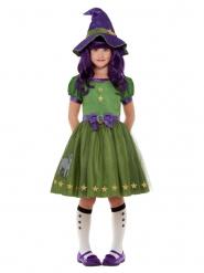 Santoro™ Niedliches Hexenkostüm für Mädchen Halloween grün-violett