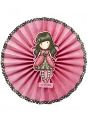 Ladybird Santoro™-Papierfächer Partydekoration 3 Stück rosa-braun