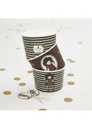 Ruby Santoro™-Behältnisse Partydekoration 8 Stück braun 230 ml