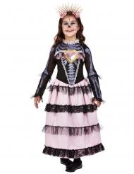 Bezauberndes Dia de los muertos-Kostüm für Mädchen Kostüm für Halloween rosa-violett-schwarz