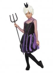Meereshexe Mädchenkostüm für Halloween Unterwasser-Wesen schwarz-violett