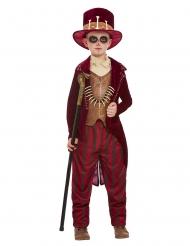 Knochen Voodoo-Kostüm für Jungen Halloween-Verkleidung rot-braun