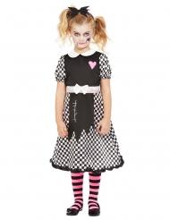 Niedliches Puppenkostüm für Halloween Mädchenkostüm schwarz-weiss