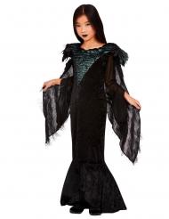 Königliches Rabenkostüm für Mädchen Halloween-Verkleidung schwarz