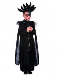 Rabenprinz-Kinderkostüm für Jungen Halloween-Verkleidung schwarz