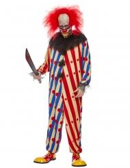 Creepy-Killerclown Halloween-Kostüm für Erwachsene bunt