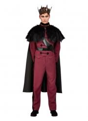 Fürstliches-Kostüm für Männer Herren-Verkleidung für Fasching rot-schwarz