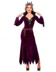 Mittelalterliche Gräfin Damenkostüm für Halloween lila-schwarz
