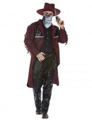 Cowboy-Kostüm Halloween-Verkleidung Wilder Westen rot-schwarz
