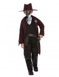 Geister-Cowboy-Kostüm für Jungen Halloween-Verkleidung rot-schwarz
