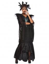 Herrscherin der Raben Halloween-Kostüm für Damen schwarz