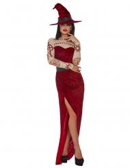 Satanistisches-Hexenkostüm Halloween-Kostüm für Damen rot