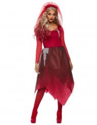 Teufelsbraut-Damenkostüm für Halloween Dämon schwarz-rot