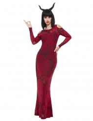 Diabolisches Teufelskostüm für Damen schwarz-rot