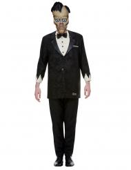 Offizielles Lurch-Kostüm für Herren Addams Family™ Halloween-Filmkostüm schwarz-weiß