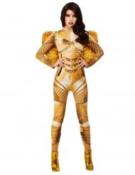 Prachtvolles Engelkostüm für Damen Karneval goldfarben